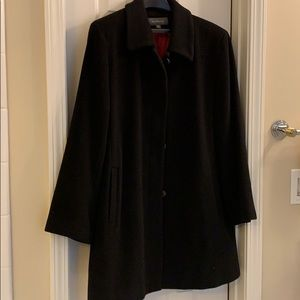 Plus size black wool coat size 18